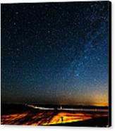 The Milky Way And My Shadow Canvas Print