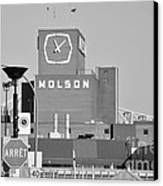 The Molson Clock Montreal Canvas Print by Reb Frost