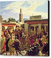 The Moroccan Storyteller Canvas Print by Alfred Dehodencq