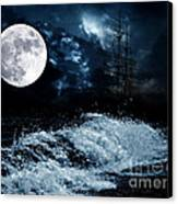 The Mysterious Moon Canvas Print by Boon Mee