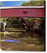 The Narrows Covered Bridge 1 Canvas Print by Marty Koch
