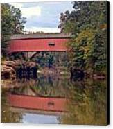 The Narrows Covered Bridge 4 Canvas Print