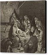 The Nativity Canvas Print by Antique Engravings