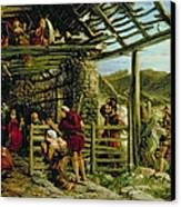 The Nativity Canvas Print by William Bell Scott