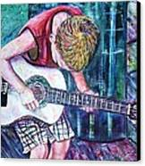 The New Guitar Canvas Print by Linda Vaughon