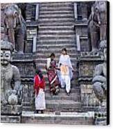 The Nyatapola Temple At Bhaktapur In Nepal Canvas Print