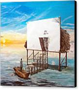 The Occult Listen With Music Of The Description Box Canvas Print by Lazaro Hurtado
