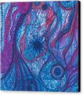 The Ocean's Blue Heart Canvas Print