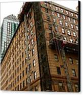 The Old And The New Building Canvas Print by Jocelyne Choquette