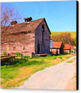 The Old Barn 5d22271 Canvas Print by Wingsdomain Art and Photography