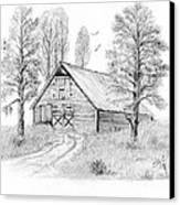 The Old Country Barn Canvas Print by Syl Lobato