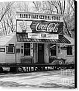 The Old General Store Bw Canvas Print by Mel Steinhauer