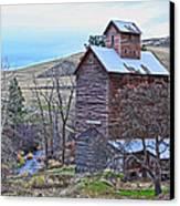 The Old Grain Storage Canvas Print by Steve McKinzie