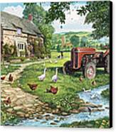 The Old Tractor Canvas Print by Steve Crisp