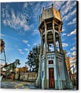 The Old Water Tower Of Tel Aviv Canvas Print by Ron Shoshani