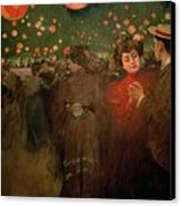 The Open Air Party Canvas Print by Ramon Casas i Carbo