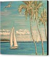 The Palms Canvas Print by The Beach  Dreamer