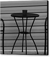 The Patio In Black And White Canvas Print by Rob Hans