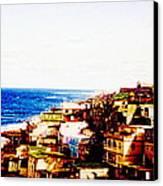 The Pearl Of Old San Juan Canvas Print by Sandra Pena de Ortiz