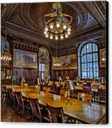 The Periodical Room At The New York Public Library Canvas Print by Susan Candelario