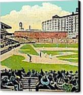 The Phillies Baker Bowl In Philadelphia Pa In 1914 Canvas Print by Dwight Goss