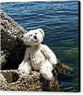 The Philosopher - Teddy Bear Art By William Patrick And Sharon Cummings Canvas Print by Sharon Cummings