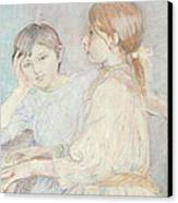 The Piano Canvas Print by Berthe Morisot