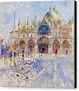 The Piazza San Marco Canvas Print by Pierre Auguste Renoir