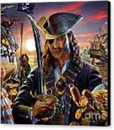 The Pirate Canvas Print by Adrian Chesterman