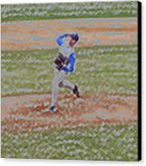 The Pitcher Digital Art Canvas Print by Thomas Woolworth