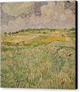 The Plain At Auvers Canvas Print by Vincent Van Gogh