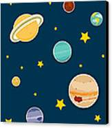 The Planets  Canvas Print by Christy Beckwith