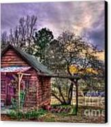 The Play House At Sunset Near Lake Oconee. Canvas Print