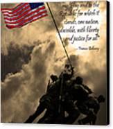 The Pledge Of Allegiance - Iwo Jima 20130211v2 Canvas Print