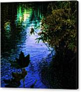 The Pond At Dusk Canvas Print by Jo Ann
