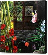 The Pond Garden Canvas Print by D L Gerring