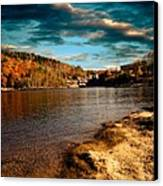 The Pool Below Upper Falls Rumford Maine Canvas Print by Bob Orsillo