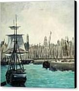 The Port At Calais Canvas Print
