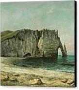 The Porte D'aval At Etretat Canvas Print