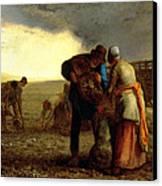 The Potato Harvest Canvas Print by Jean Francois Millet