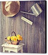 The Potting Shed Canvas Print by Amanda Elwell