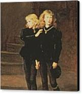 The Princes Edward And Richard Canvas Print by Sir John Everett Millais