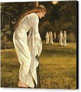 The Princess Tied To A Tree Canvas Print by Sir Edward Coley Burne-Jones