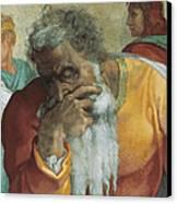 The Prophet Jeremiah Canvas Print by Michelangelo