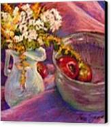 The Purple Bowl Canvas Print by Lenore Gaudet
