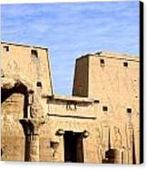The Pylons Of Edfu Temple Canvas Print by Brenda Kean