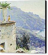 The Ravello Coastline Canvas Print by Peder Monsted