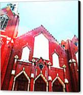 The Red Church By Sharon Cummings Canvas Print by Sharon Cummings