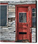 The Red Door Canvas Print by Eric Gendron