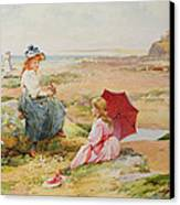 The Red Parasol Canvas Print by Alfred Glendening Jr